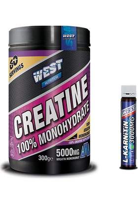 West Nutrition Creatine Monohidrat 300 gr + Karnitin Shot