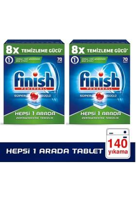 Finish Hepsi Bir Arada Bulaşık Makinesi Deterjanı 70 x 2 Tablet 140 Adet