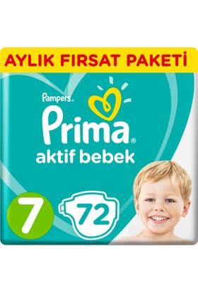 Prima Bebek Bezi Aktif Bebek 7 Beden XX Large Aylık Fırsat Paketi 72 Adet