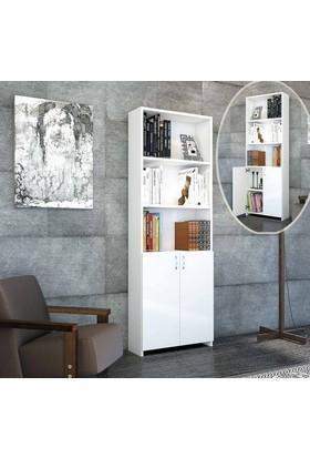 Hepsiburada Home Hilal 2 Kapaklı Kitaplık - Beyaz