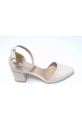 Stella di More 2234 Bilekten Bağlı Ten Topuklu Kadın Sandalet