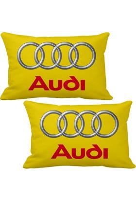 Asr Audi 2 li Lüks Araç Boyun Yastığı Sarı