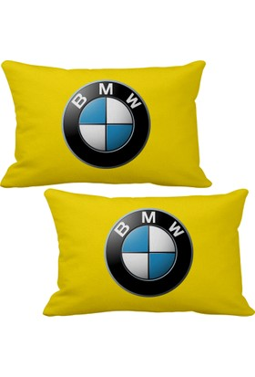 Asr BMW 2 li Lüks Araç Boyun Yastığı Sarı