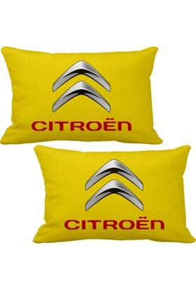 Asr Citroen 2 li Lüks Araç Boyun Yastığı Sarı