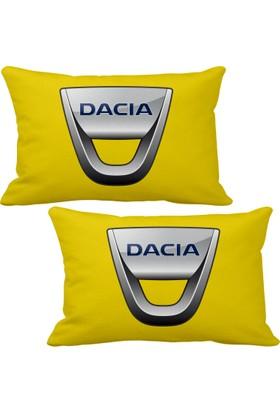 Asr Dacia 2 li Lüks Araç Boyun Yastığı Sarı