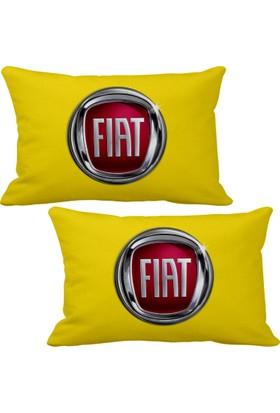 Asr Fiat 2 li Lüks Araç Boyun Yastığı Sarı