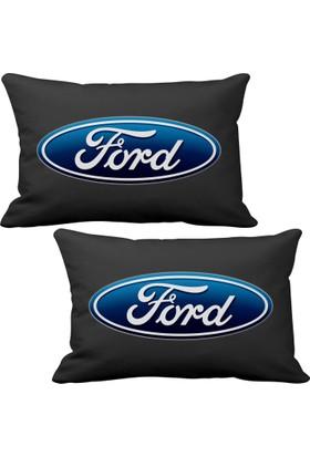 Asr Ford 2 li Lüks Araç Boyun Yastığı Siyah