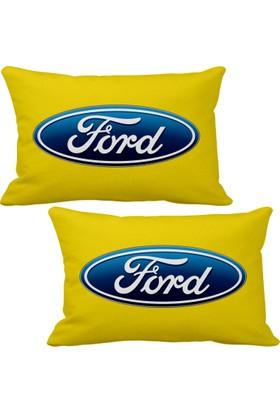 Asr Ford 2 li Lüks Araç Boyun Yastığı Sarı