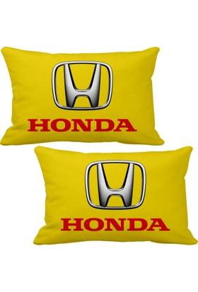 Asr Honda 2 li Lüks Araç Boyun Yastığı Sarı