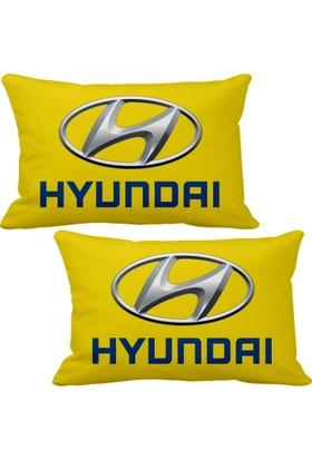 Asr Hyundai 2 li Lüks Araç Boyun Yastığı Sarı