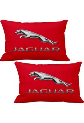 Asr Jaguar 2 li Lüks Araç Boyun Yastığı Kırmızı