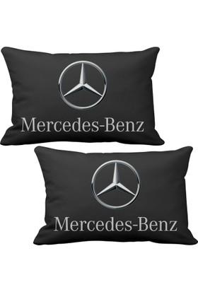 Asr Mercedes Benz 2 li Lüks Araç Boyun Yastığı Siyah