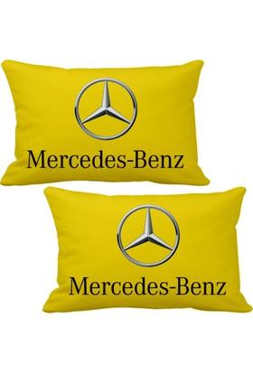 Asr Mercedes Benz 2 li Lüks Araç Boyun Yastığı Sarı