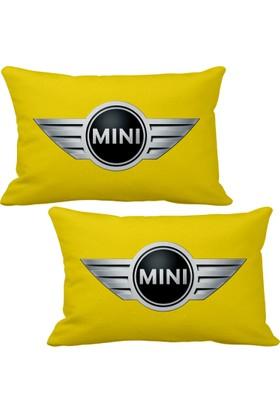 Asr Mini Cooper 2 li Lüks Araç Boyun Yastığı Sarı