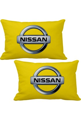Asr Nissan 2 li Lüks Araç Boyun Yastığı Sarı