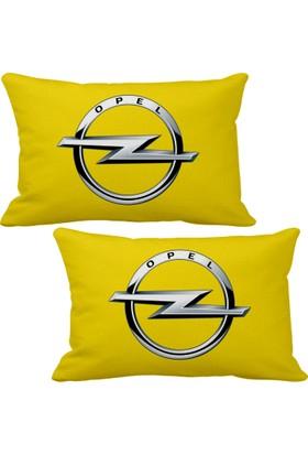 Asr Opel 2 li Lüks Araç Boyun Yastığı Sarı