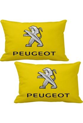 Asr Peugeot 2 li Lüks Araç Boyun Yastığı Sarı