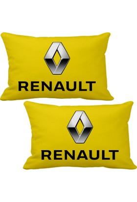 Asr Renault 2 li Lüks Araç Boyun Yastığı Sarı