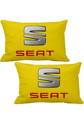 Asr Seat 2 li Lüks Araç Boyun Yastığı Sarı