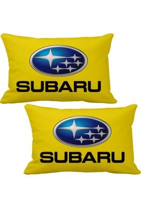 Asr Subaru 2 li Lüks Araç Boyun Yastığı Sarı
