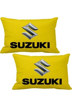 Asr Suzuki 2 li Lüks Araç Boyun Yastığı Sarı