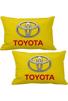 Asr Toyota 2 li Lüks Araç Boyun Yastığı Sarı