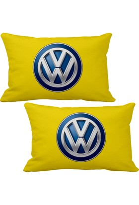 Asr Volkswagen 2 li Lüks Araç Boyun Yastığı Sarı