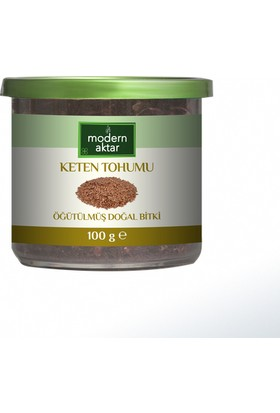 Modern Aktar Doğal Öğütülmüş Keten Tohumu 100Gr