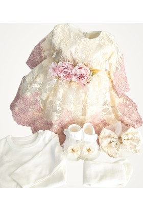 Eda Baby Fransız Dantelli Kız Bebek Mevlüt Elbisesi