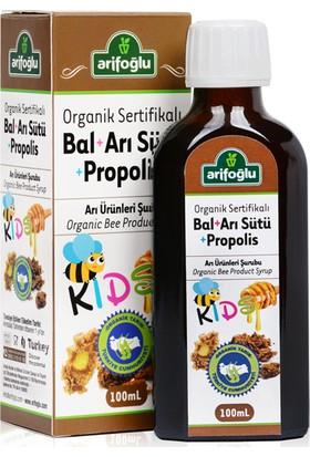 Arifoğlu Organik Bal + Arı Sütü + Propolis Şurup Çocuk Kids
