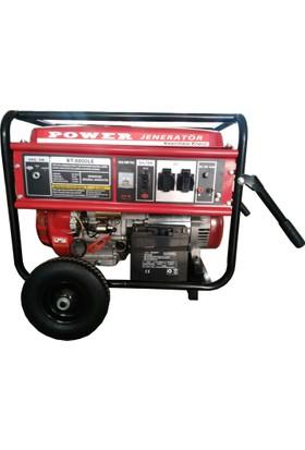 Power Bt8800 LE 7 Kva Benzinli Jeneratör (Tekerlekli)