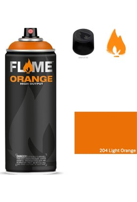 Flame Orange 400Ml Sprey Boya N:204 Light Orange