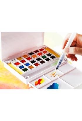 Hobi24 24 Renk Tablet Sulu Boya + Fırça