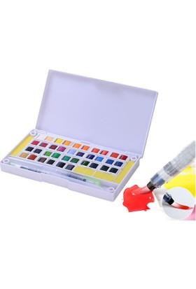 Hobi24 36 Renk Tablet Sulu Boya + 2 Fırça