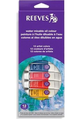 Reeves Yağlı Boya Set 12 Renk (Su Bazlı)