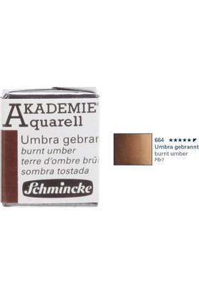 Schmincke Akademie Aquarell Suluboya 1/2 Tablet Burnt Umber