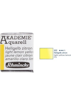 Schmincke Akademie Aquarell Suluboya 1/2 Tablet Light Lemon Yellow