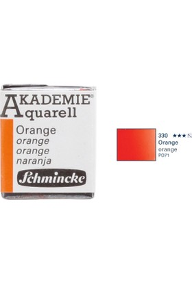 Schmincke Akademie Aquarell Suluboya 1/2 Tablet Orange