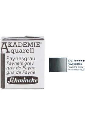 Schmincke Akademie Aquarell Suluboya 1/2 Tablet Payne'S Grey