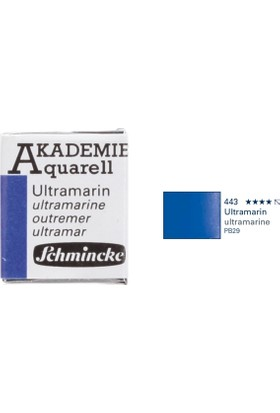 Schmincke Akademie Aquarell Suluboya 1/2 Tablet Ultramarine