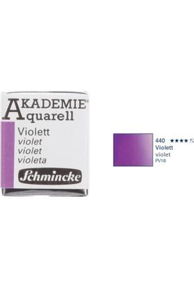 Schmincke Akademie Aquarell Suluboya 1/2 Tablet Violet