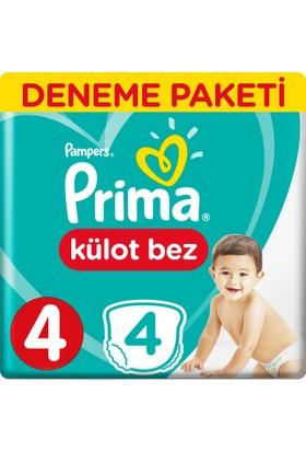 Prima Pants Külot Bebek Bezi Deneme Paketi Maxi 4 Beden 4 Adet