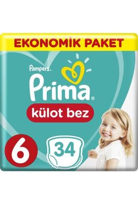 Prima Külot Bebek Bezi 6 Beden Ekstra Large Ekonomik Paket 34 Adet