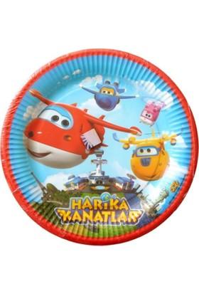 Balonevi Harika Kanatlar Lisanslı Karton Tabak