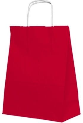 KikaJoy Kırmızı Kraft Kağıt Saplı Çanta 15*20 cm