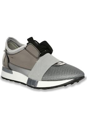 Iva Mae 1081- Platin Ayna Kadın Sneaker