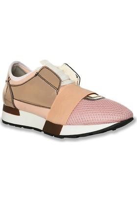 Iva Mae 1081- Pudra File Bakır Ayna Kadın Sneaker