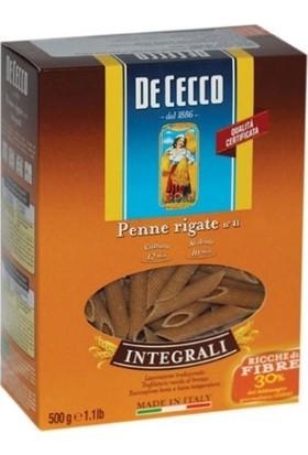 De Cecco Kepekli Penne Rigate Integrali Makarna 500 gr