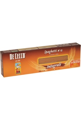 De Cecco Kepekli Spaghetti Integrali Makarna 500 gr