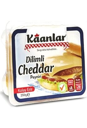 Kaanlar Cheddar Dilimli Peynir 250 gr
